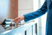 Hotel service bell at reception — Stock Photo