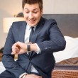 Businessman in the luxury hotel — Stock Photo #68171939