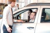 Customers inside the car — Stock Photo