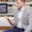 Waiting for friends in the bar — Stock Photo #68776655
