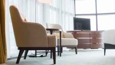 Luxury meeting room in hotel — Stock Video
