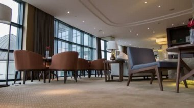Interior of nice meeting room in hotel — Stock Video