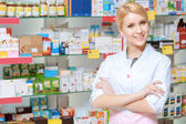 Range of medicine in the drugstore — Stock Photo