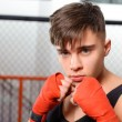 Kickboxer in the gym — Stock Photo #70079395