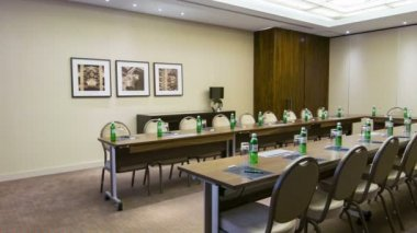 Conference hall or meeting room — Vídeo stock