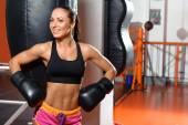 女拳击手的出气筒 — 图库照片