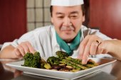 Fried vegetables cooked by chef — Stock Photo