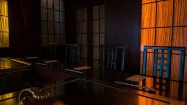 Tracking shot of popular modern design of nice restaurant — Stock Video