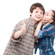 Small girl and her older brother — Stock Photo #73392113