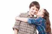 Brother and sister love — Stock Photo