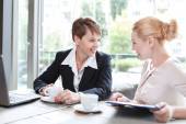 Businesswomen during a business lunch  — Stock Photo
