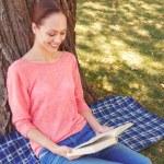 Woman reading book — Stock Photo #79573802