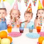 Little children during birthday party — Stock Photo #80147660