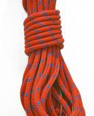Braided climbing rope coil — Стоковое фото