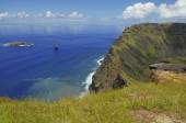 Rano Kau into the Pacific Ocean — Stock Photo