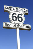 Historic Route U.S. Route 66 Highway sign — Stock Photo