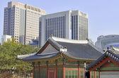 Autumn at Deoksugung Palace in Downtown Seoul, Korea — Foto de Stock