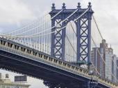 New York Landmark, Manhattan brug over de East River, New York City — Stockfoto