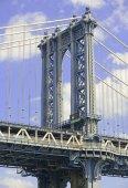 New York Landmark, Manhattan Bridge over East River, New York City — Stock Photo