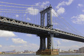 New York Landmark, Manhattan brug over de East River, New York City — Stockfoto