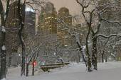 Manhattan skyline after snowstorm, New York City — Fotografia Stock