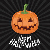 Pumpkin for halloween on background vector illustration — Stock Vector