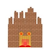 Halloween haunted castle vector illustration — Stock Vector