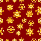 Christmas seamless pattern of snowflakes vector — Stockvektor