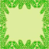 Frame of the branches of spruce Christmas theme vector — Stockvector