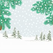 Spruce branches with snowflakes vector — Stock vektor