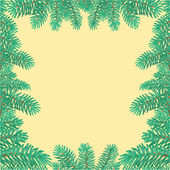 Frame of the branches of spruce Christmas tree vector — Stock Vector