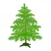 Christmas tree with the stand vector — Stock Vector