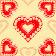 Valentines day  red hearts seamless texture vector — Stock Vector #59556535