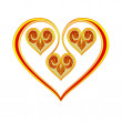 Valentines day Valentine heart gold with roses vector — Stock Vector #59556555