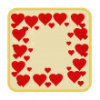 Valentines day hearts gold background vector — Stock Vector #60606325