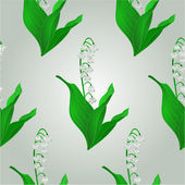 Seamless texture Lily of the Valley  vector — Stock Vector