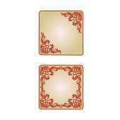 Button banner  valentine heart  red vintage vector — Stock Vector