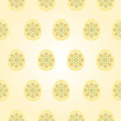 Seamless texture Easter eggs vintage Easter background vector — Stock Vector