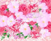 Vector fondo floral — Vector de stock