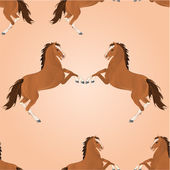 Dikişsiz doku kahverengi at vektör — Stok Vektör