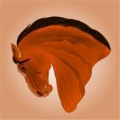 The head of light brown stallion horse vector — Wektor stockowy