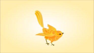 Oiseau d'or apprennent à voler des boucles parfaites — Vidéo
