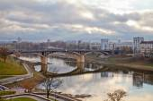 The bridge across the river Western Dvina. Vitebsk. Belarus — Stock Photo