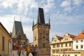 Czech Republic. Prague. The Charles bridge. Malostranska bridge towers — Stock Photo
