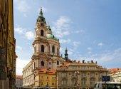 Czech Republic. Prague. The St. Nicholas Church at the Staromestske square — Stock Photo