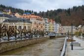 Czech Republic. Karlovy Vary. The Tepla river embankment — Stockfoto