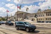 The Austrian Parliament (Parlamentsgebäude). Vienna. Austria — Stock Photo
