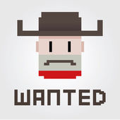 Wanted Outlaw — Stock Vector