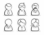 Conjunto de iconos de personas de negocios — Vector de stock