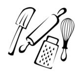 Baking utensils — Stock Vector